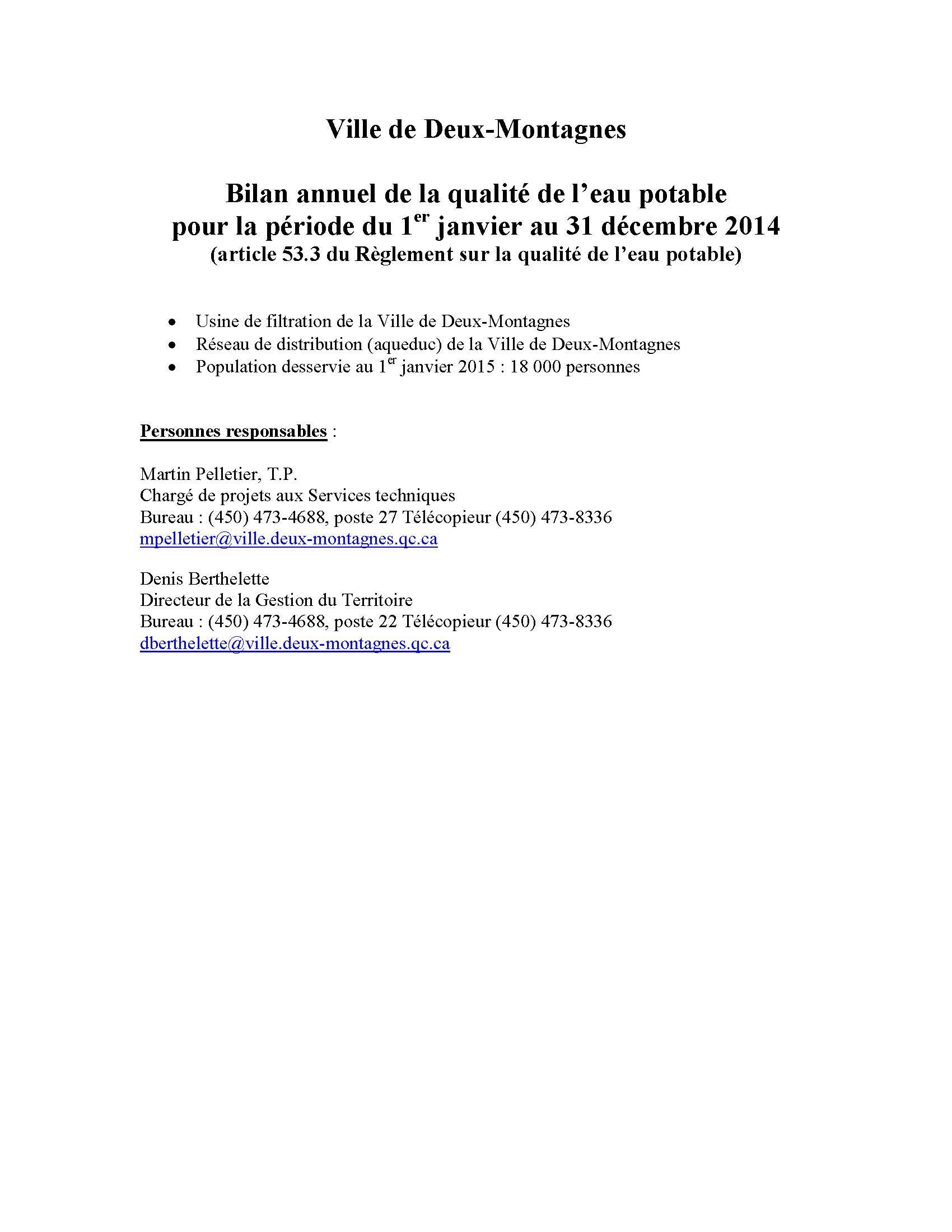 Bilan annuel des analyses d'eau potable - 2014 - Copie_Page_1