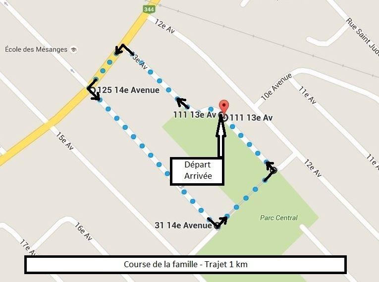 Deux-Montagnes - Course de la famille - Trajet 1 km