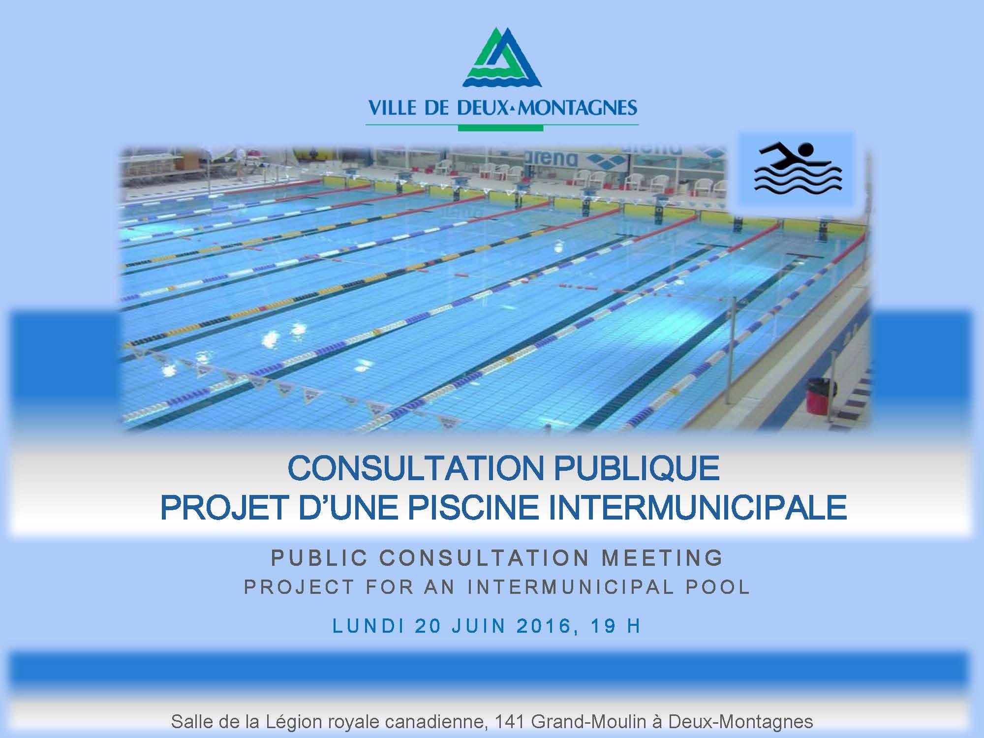 Projet de piscine intermunicipale pr cisions ville de for Projet piscine