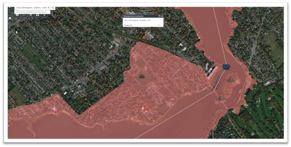 Carte Index Quebec.Flood Areas July 4 Public Assembly Concerning The